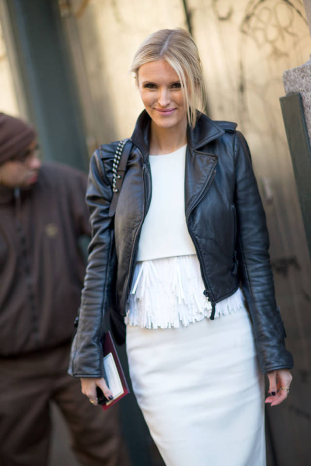NYFW-street-style-nyfw14-day2-white-top-skirt-black-leather-moto