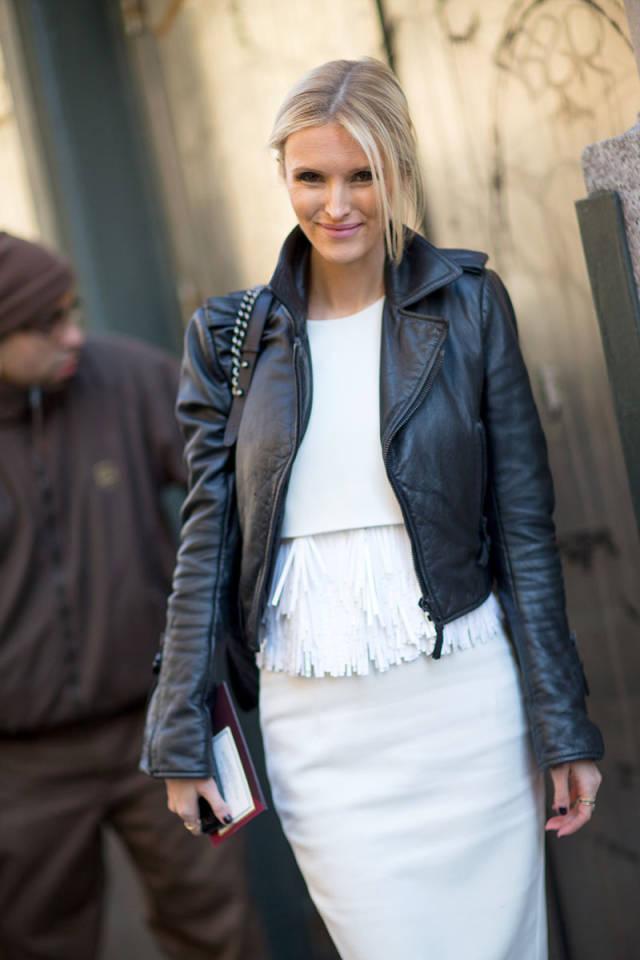 NYFW-street-style-nyfw14-day2-white-top-skirt-black-leather-moto