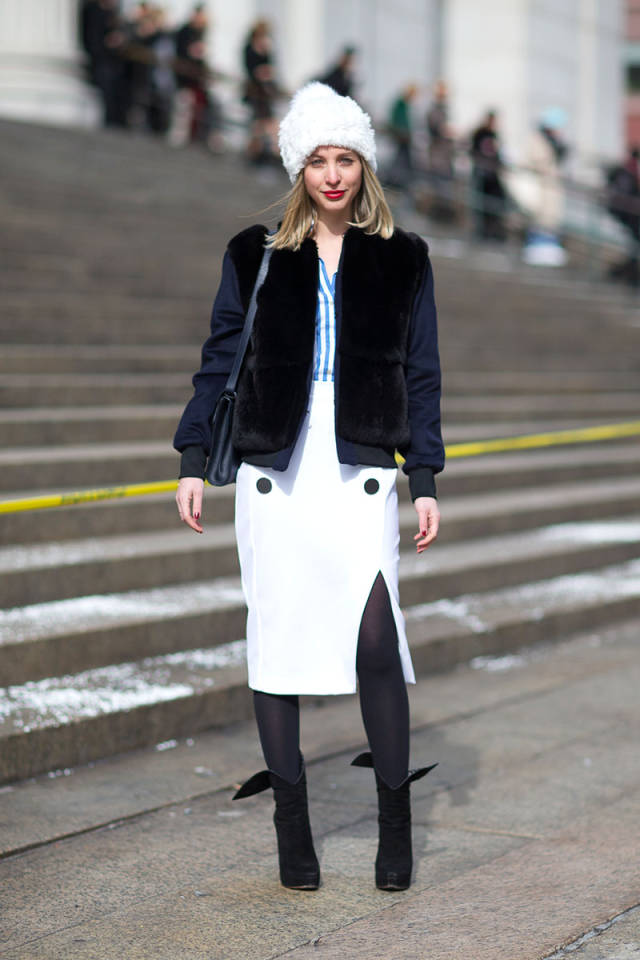 NYFW-street-style-nyfw14-day3-white-skirt-bomber-jacket