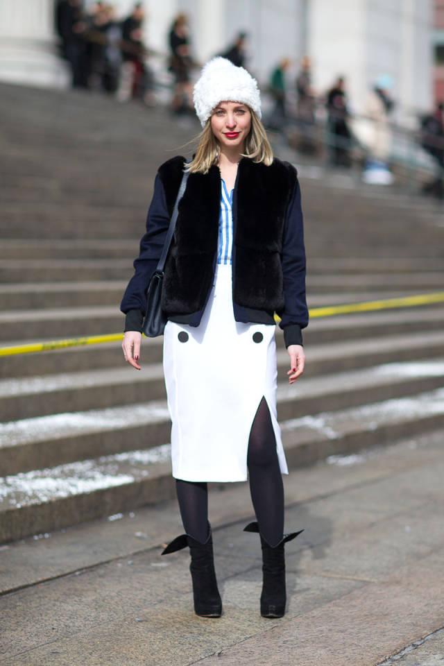 NYFW-street-style-nyfw14-day3-white-skirt-bomber-jacket