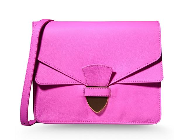 Sophie-Hulme-Fuchsia-Spear-Tab-Handbag-Clutch-Pink