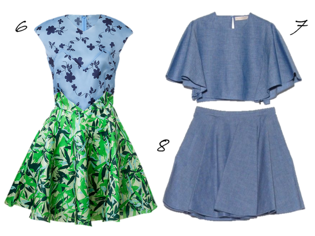 elle-sasson-green-leaves-dress-chambray-crop-top-full-mini-2014