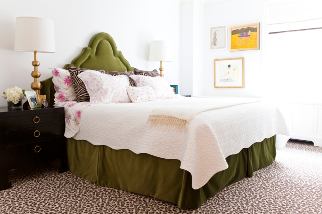 Lilly-Bunn-nyc-apartment-tour-bedroom-leopard-draper-nightstands