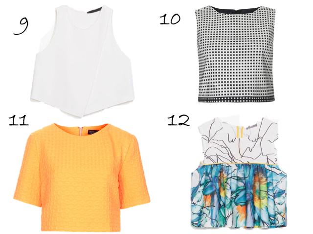 Crop Top Roundup TopShop Gingam Textured Ponte Zara Printed Cropped