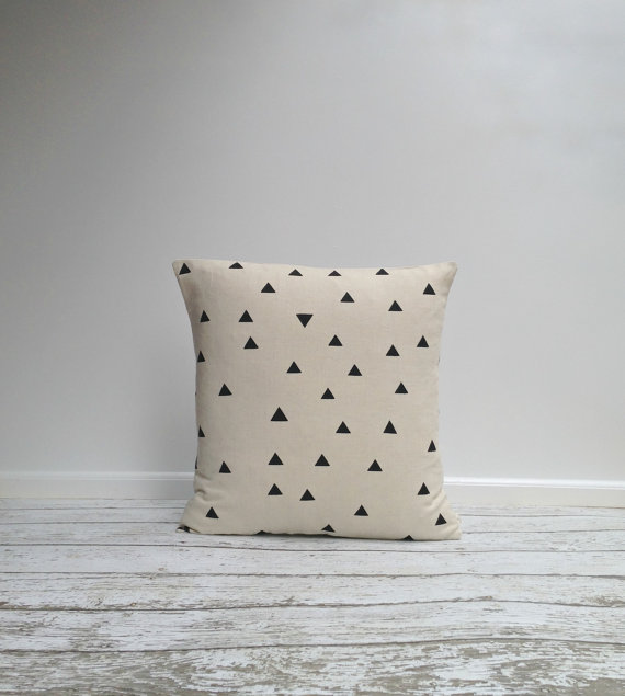agnesandyou-black-triangles-hand-painted-linen-pillow