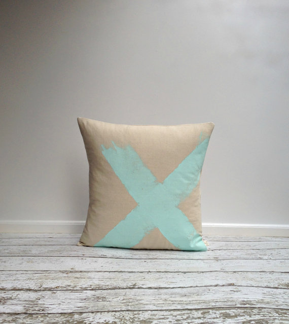 agnesandyou-mint-hand-painted-linen-pillow