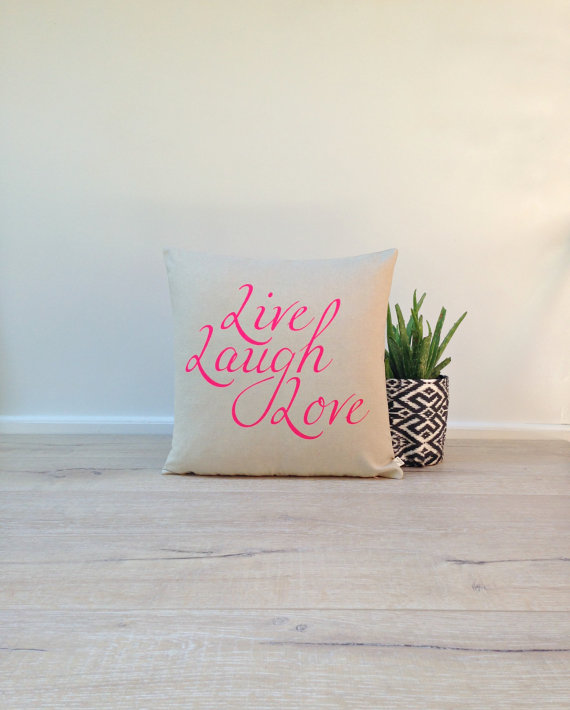 agnesandyou-neon-pink-live-laugh-love-hand-painted-linen-pillow