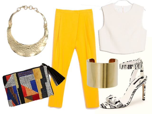 fashion-challenge-night-zara-trousers-crop-top-clutch-thecovetable