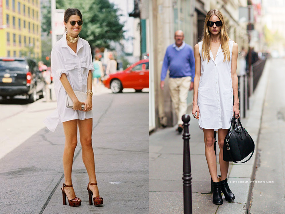look of the day the white shirtdress the covetable