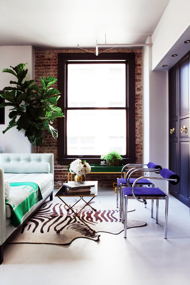 caitlin-caitlin-feminine-loft-bold-palette-glam-eclectic-living-room-chaise-hermes-blanket-apartment-envy-thecovetable