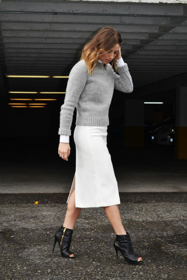 Coveting Crop Sweater + Midi Skirt - the covetable