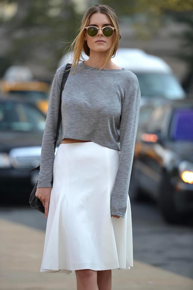 Coveting Slouchy Sweater + Midi Skirt - thecovetable