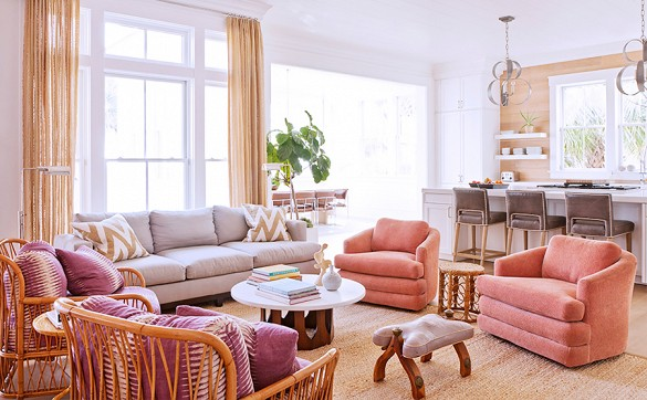 home tour darius rucker beach house living room kitchen details by angie hranowsky 1