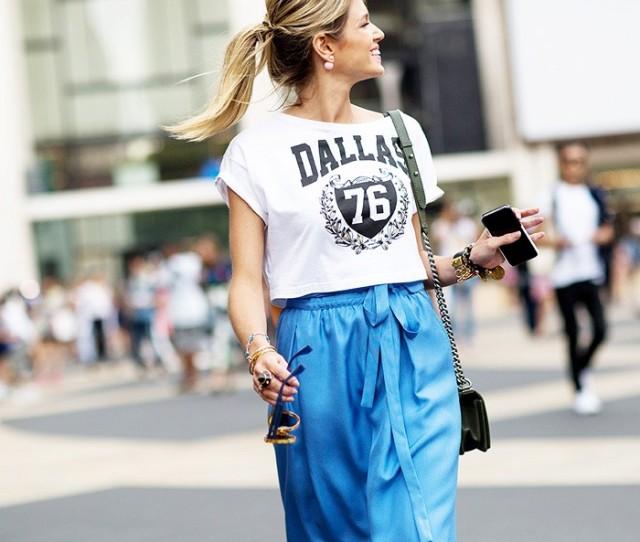 NYFW SS 2015 Street Style Dallas tee + Tie Maxi Skirt - Copy