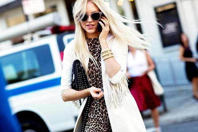 NYFW SS 2015 Street Style Leopard + Fringe - Copy