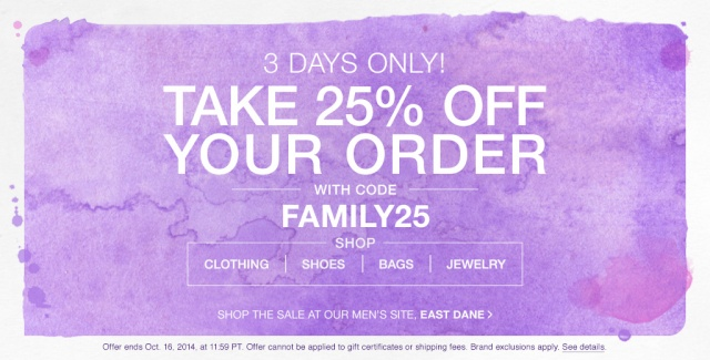 shop bop friends and family 25% off sale alert the covetable