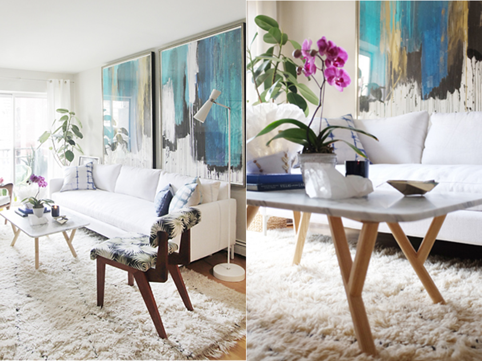 Jenna Snyder Phillips Cool Calm Living Room Abstract  ...