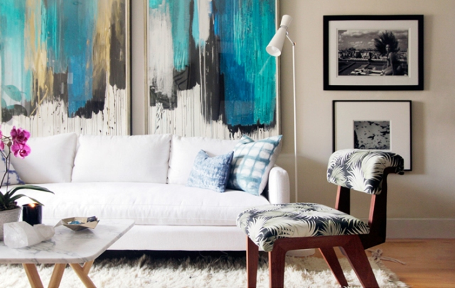 jenna snyder phillips serene living room abstract art