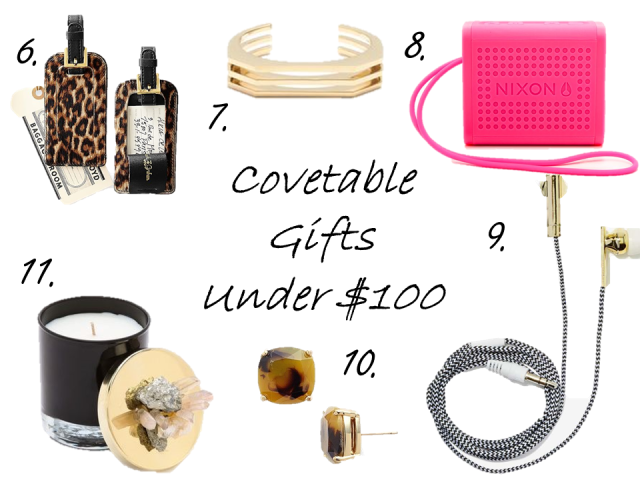 gift guide under 100 mineral candle nixon bluetooth speakers headphones gold jcrew cuff gypset living