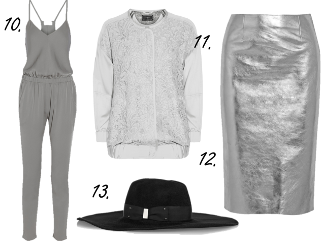 net-a-porter clearance sale finds silver leather skirt maje eugenia kim hat silk bomber thecovetable