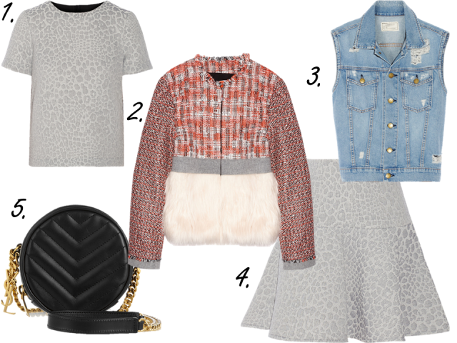 net-a-porter clearance sale finds ysl chain bag tibi skirt msgm fur jacket thecovetable