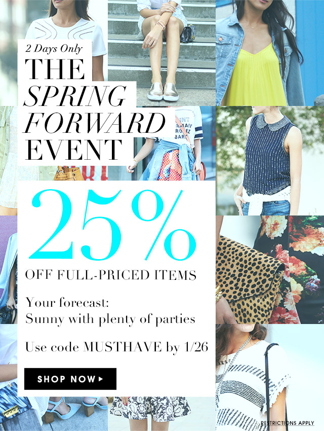 Sale Alert Piperlime 25% Off Full Priced Items Spring Forward Event thecovetable